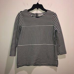 Madewell Size Medium, Blue/White Striped Blouse